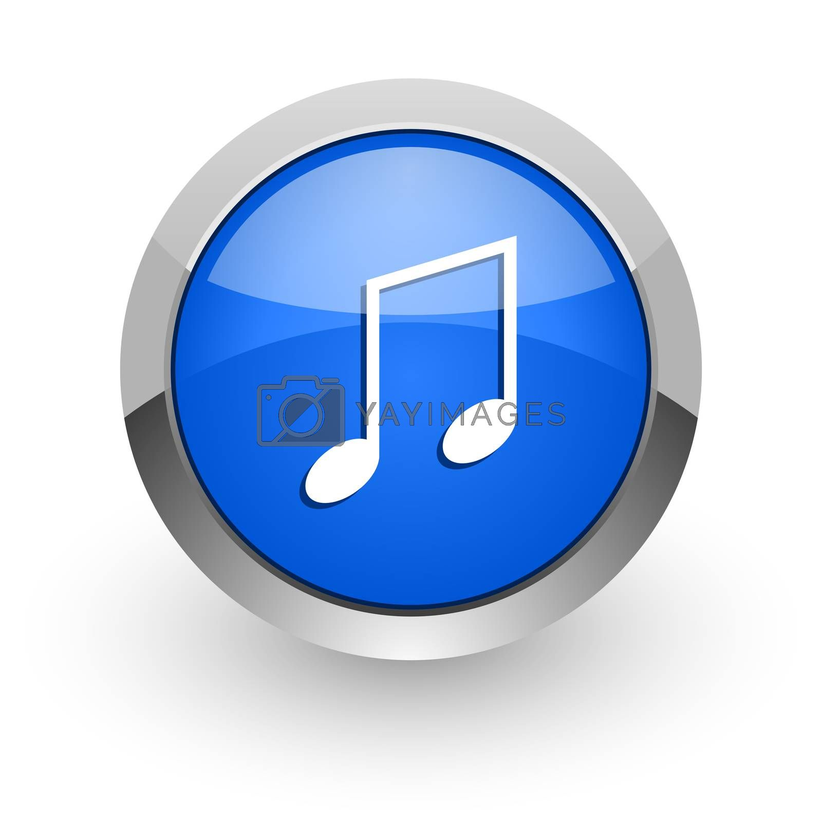 Royalty free image of music blue glossy web icon by alexwhite