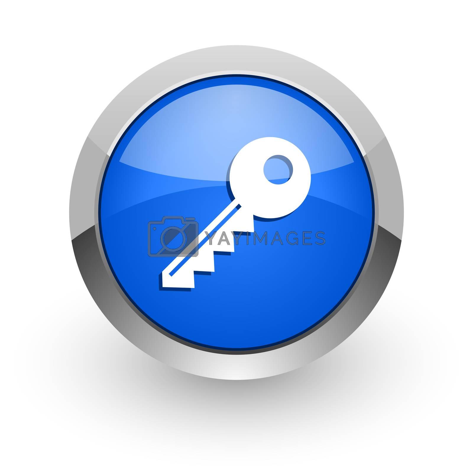 Royalty free image of key blue glossy web icon by alexwhite