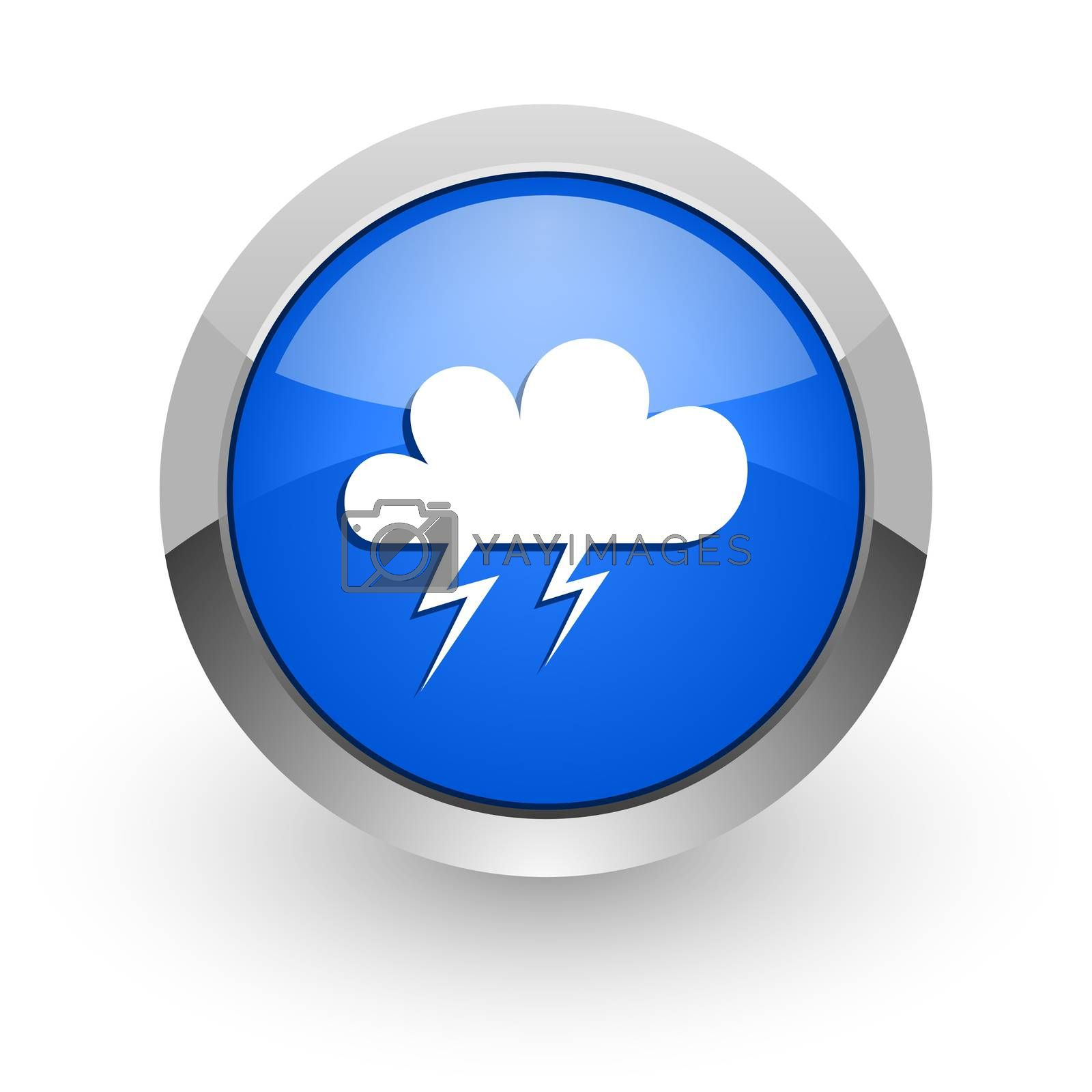 Royalty free image of storm blue glossy web icon by alexwhite