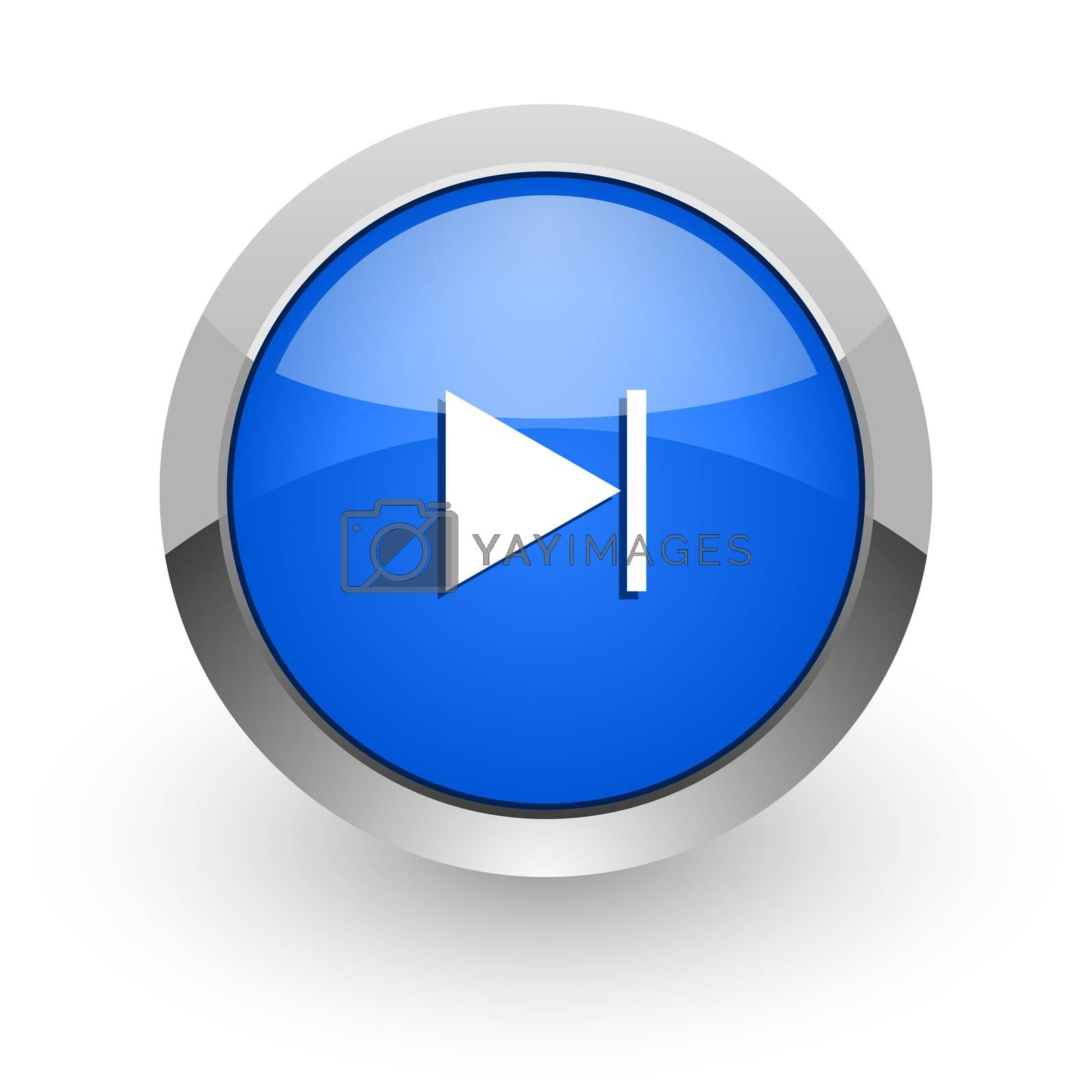 Royalty free image of next blue glossy web icon by alexwhite