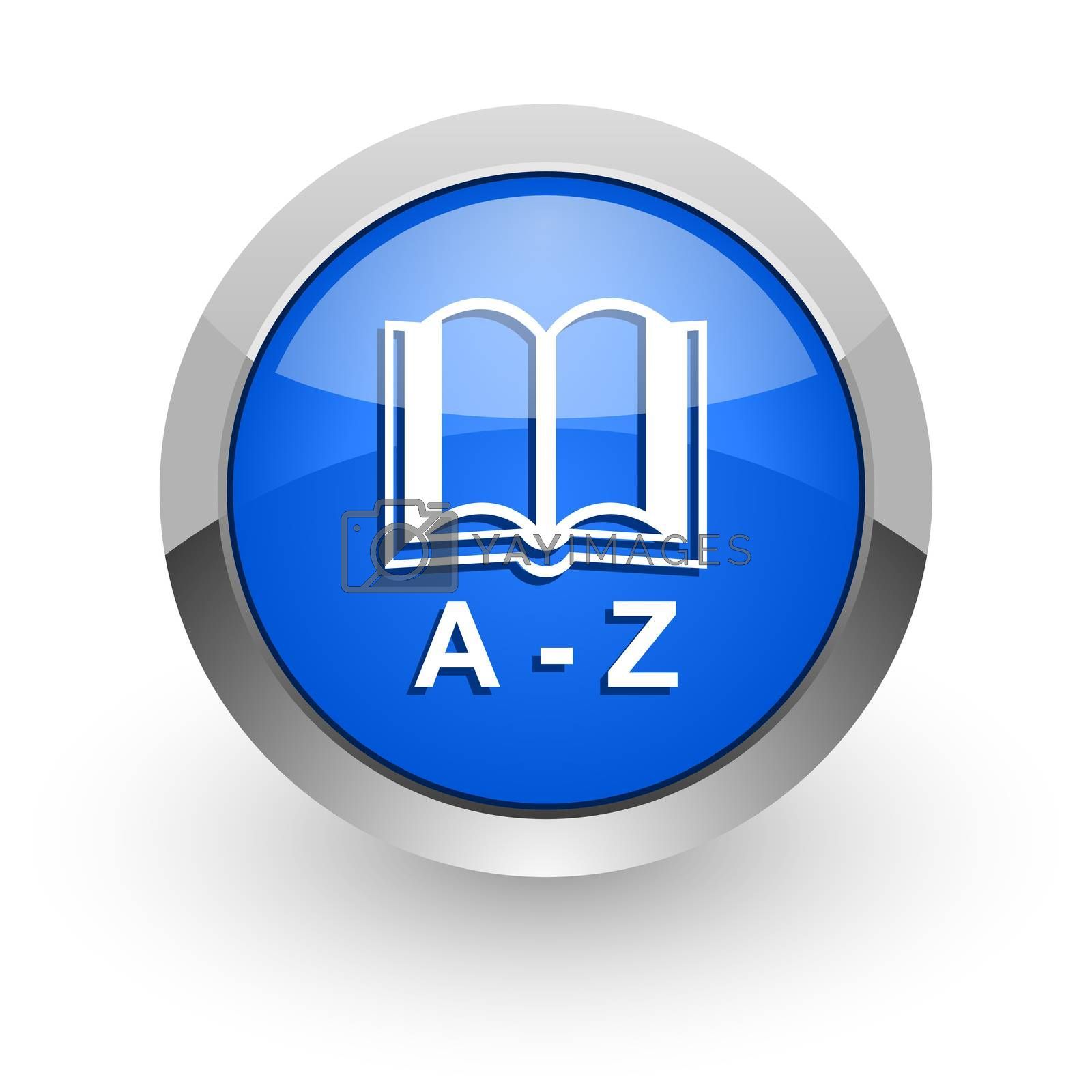 Royalty free image of dictionary blue glossy web icon by alexwhite