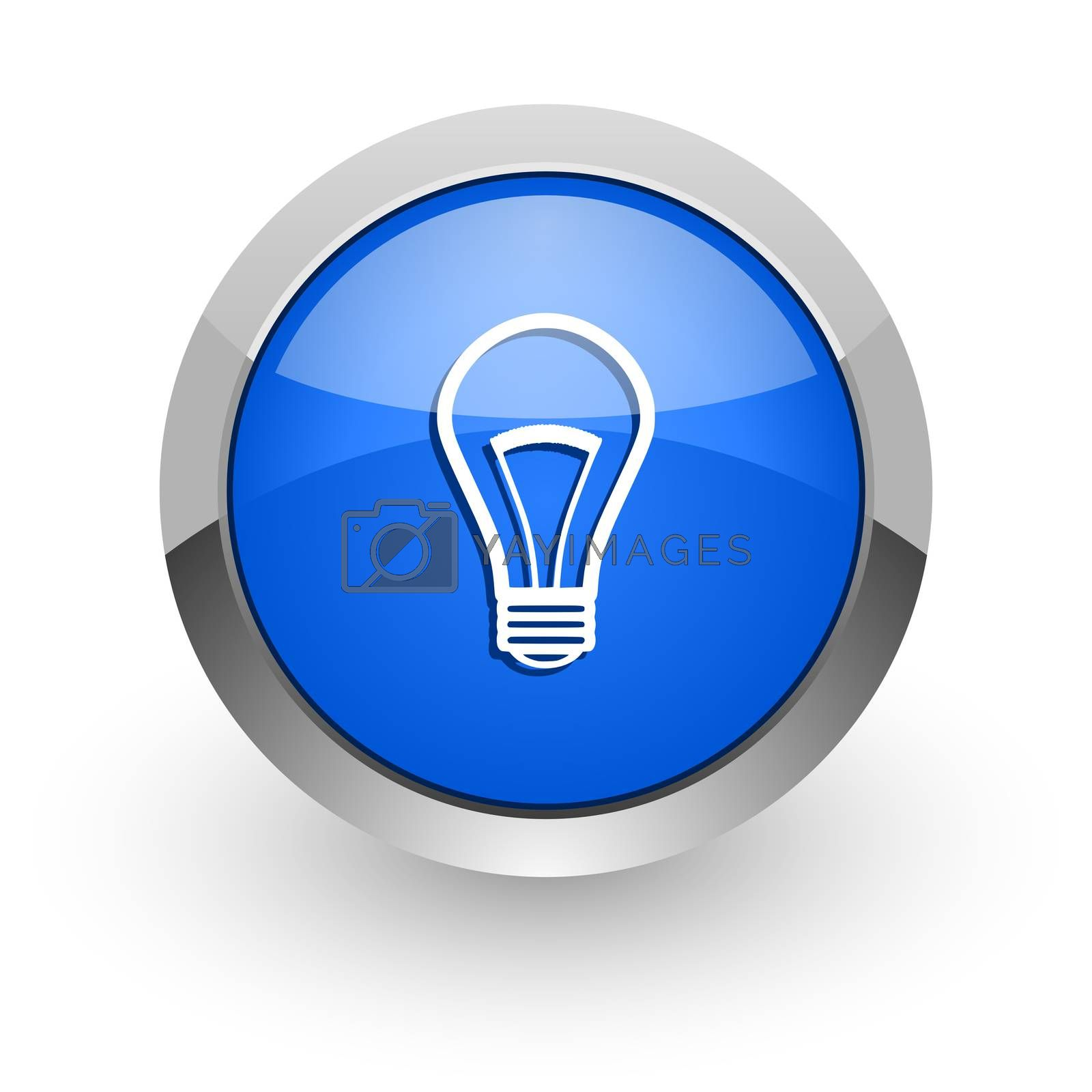 Royalty free image of bulb blue glossy web icon by alexwhite