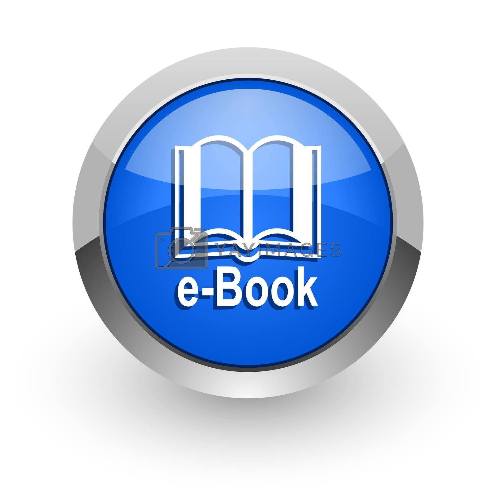 Royalty free image of book blue glossy web icon by alexwhite