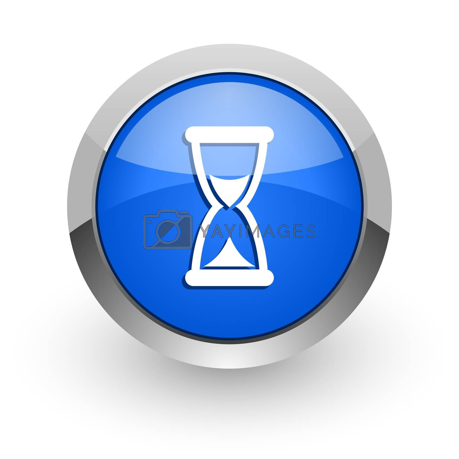 Royalty free image of time blue glossy web icon by alexwhite