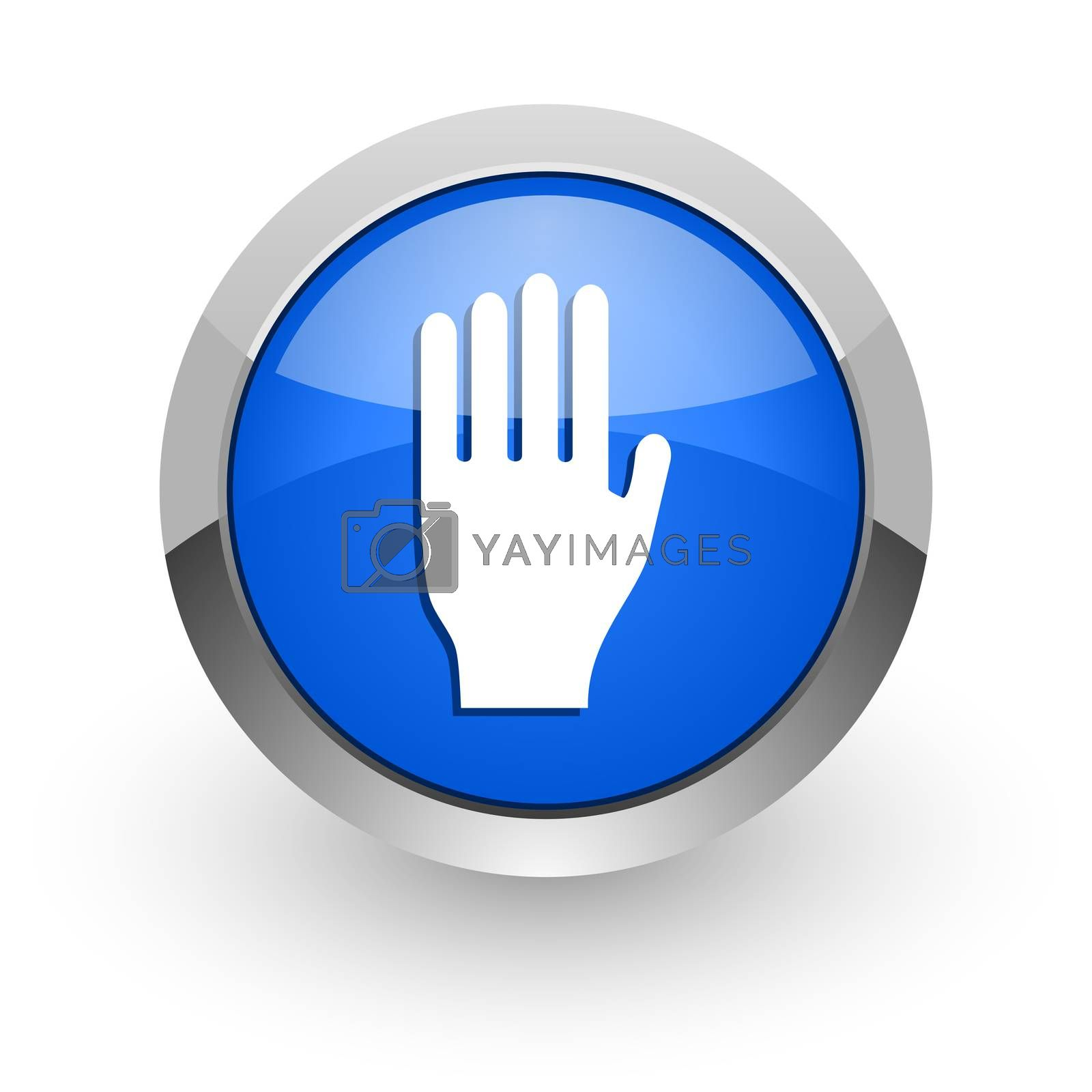 Royalty free image of stop blue glossy web icon by alexwhite