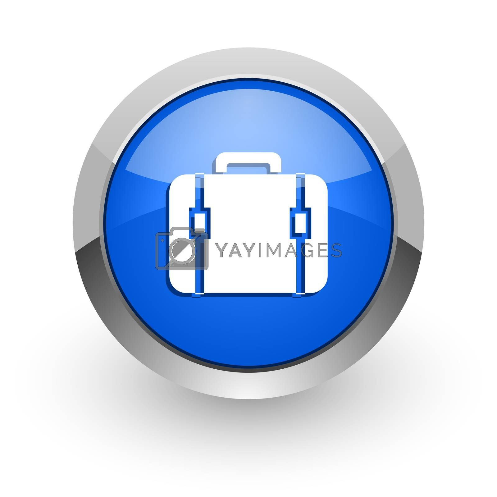 Royalty free image of bag blue glossy web icon by alexwhite