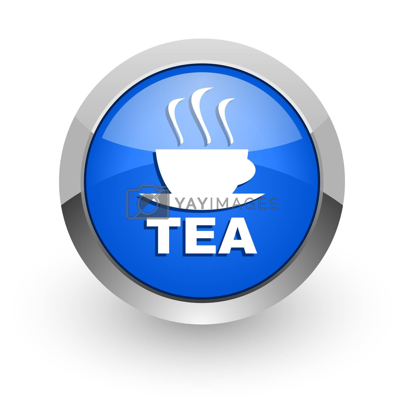 Royalty free image of tea blue glossy web icon by alexwhite