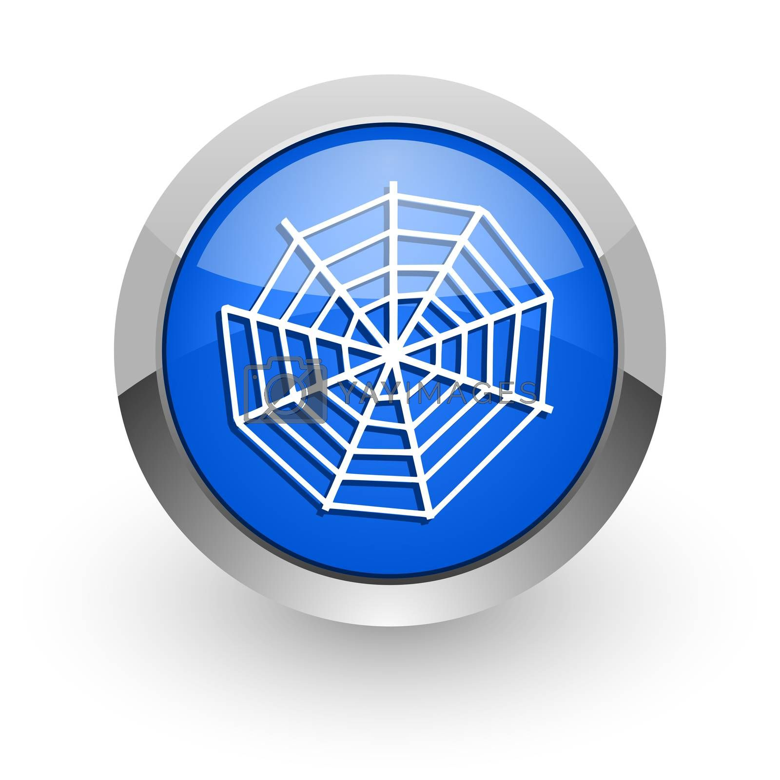 Royalty free image of spider web blue glossy web icon by alexwhite