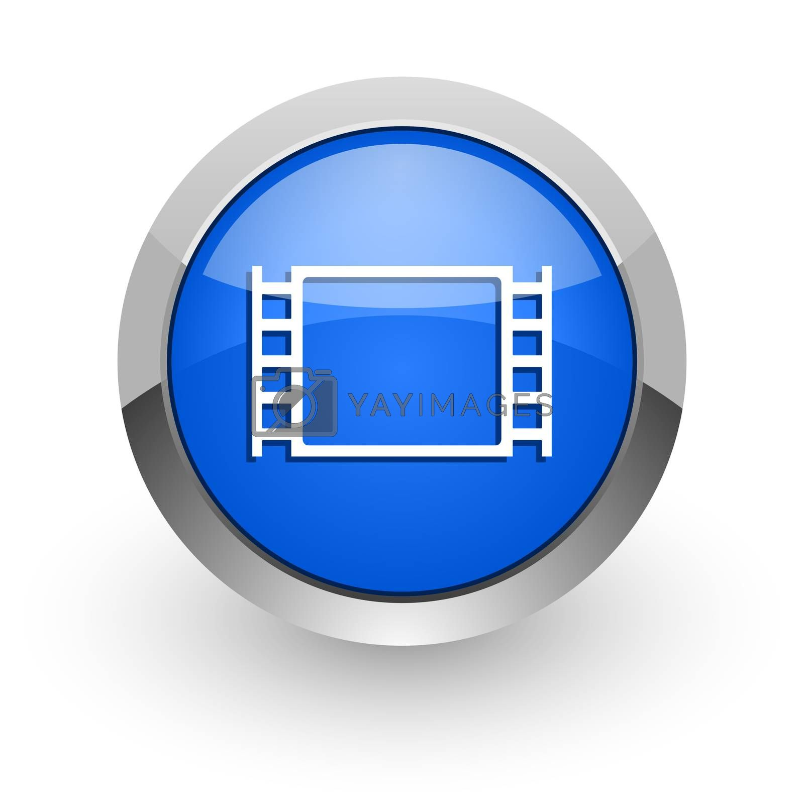Royalty free image of movie blue glossy web icon by alexwhite