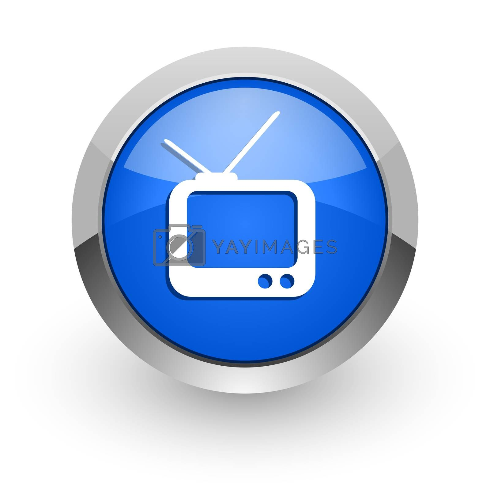 Royalty free image of tv blue glossy web icon by alexwhite