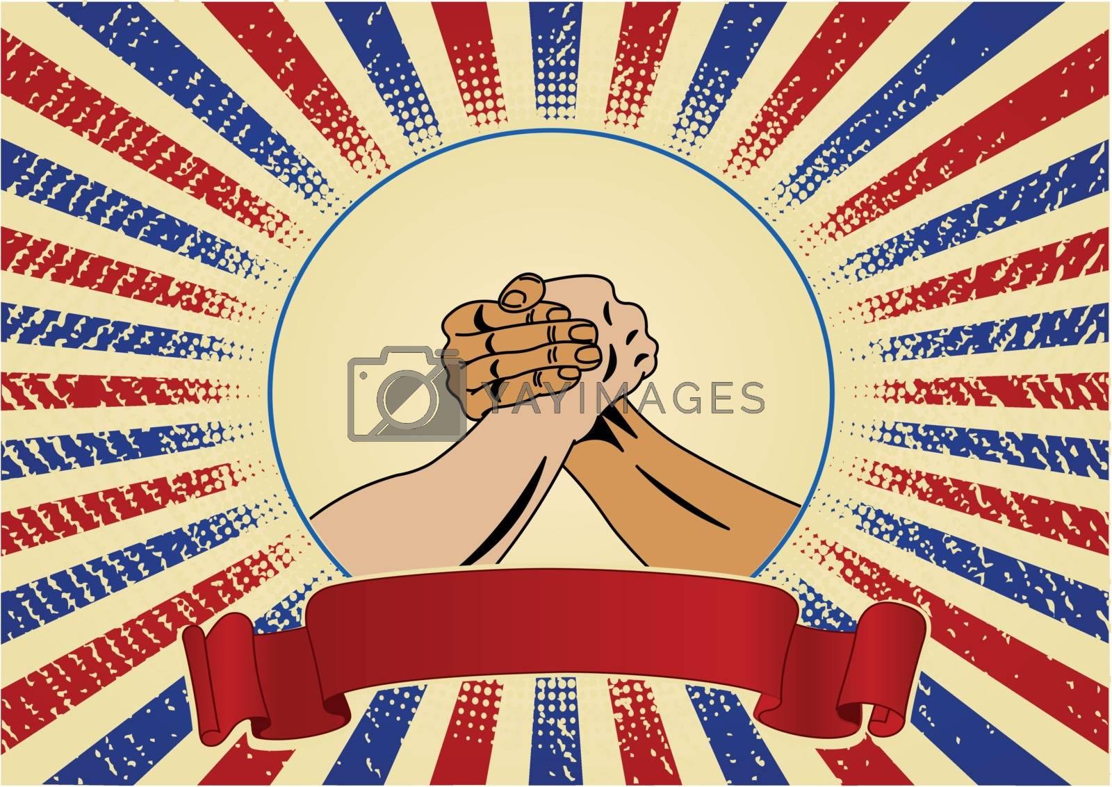 Royalty free image of Symbol of trade union by Dazdraperma