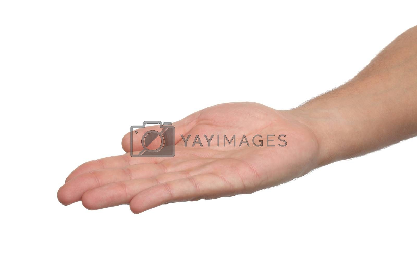 Royalty free image of Man hand sign isolated on white  by Erdosain