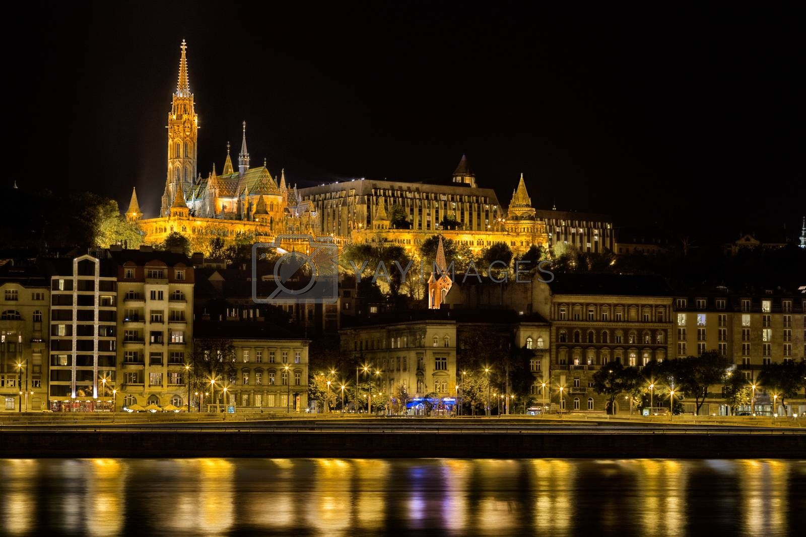 Danube Night View in Budapest by paocasa