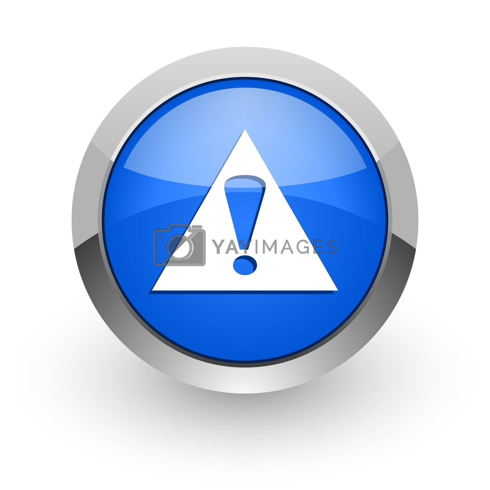 Royalty free image of exclamation sign blue glossy web icon by alexwhite