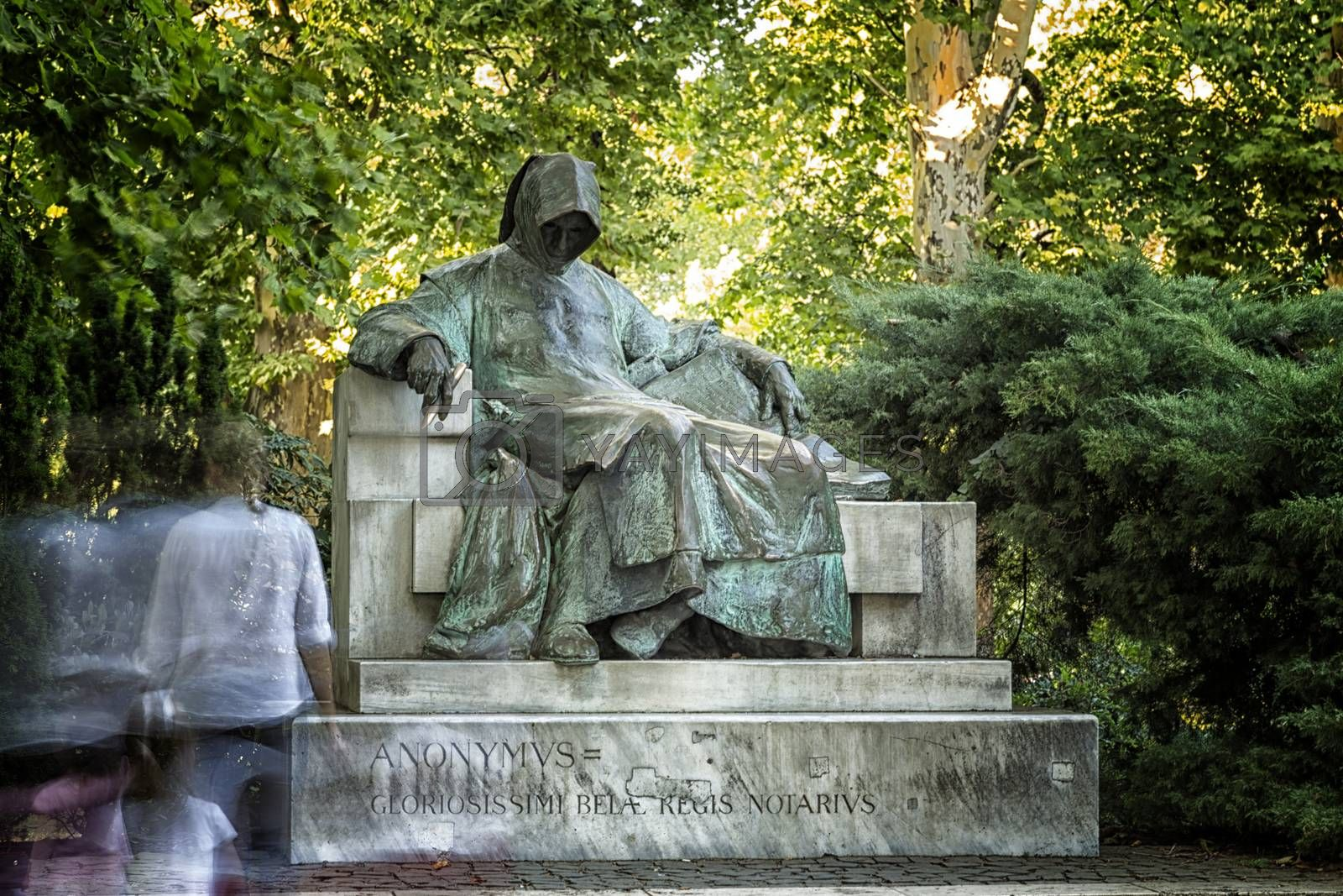 Anonymous Writer Statue in Budapest by paocasa