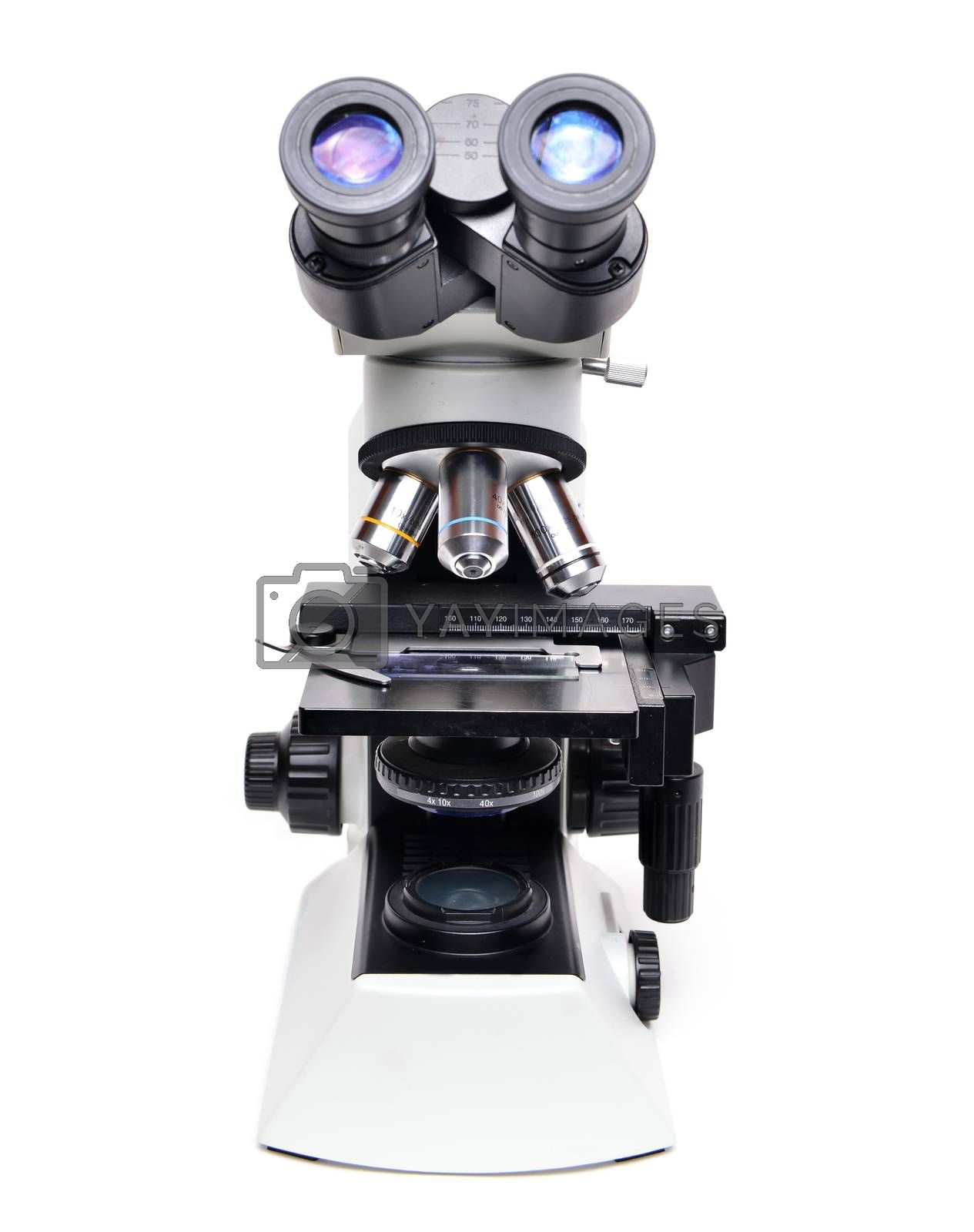 Royalty free image of microscope isolated by anankkml