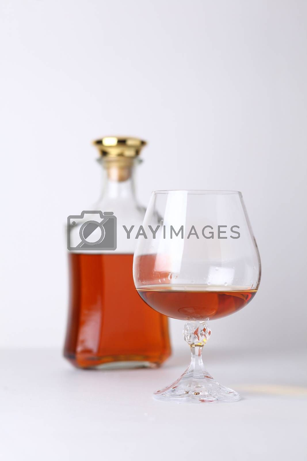 Royalty free image of Glass of brandy by hiddenhallow