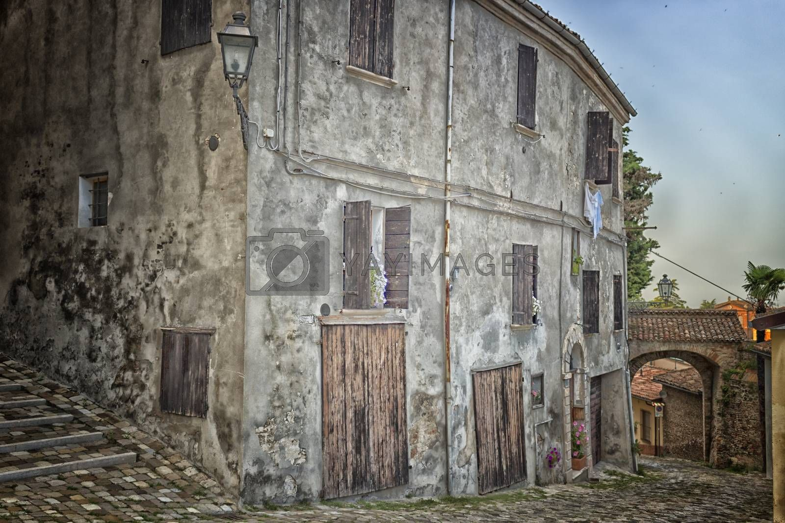 Royalty free image of Old cobbled alley by paocasa