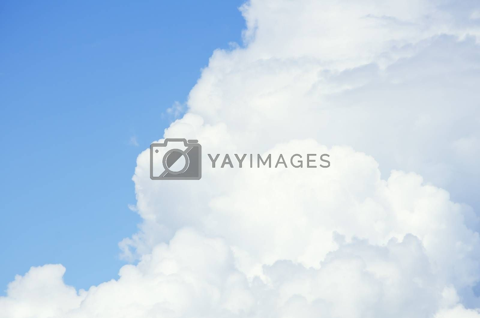 Photo of the Cloudy Sky Background, Copyspace