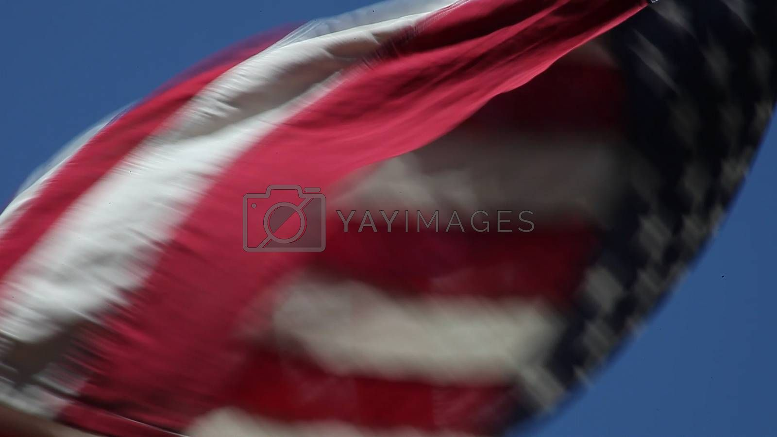 American flag in motion