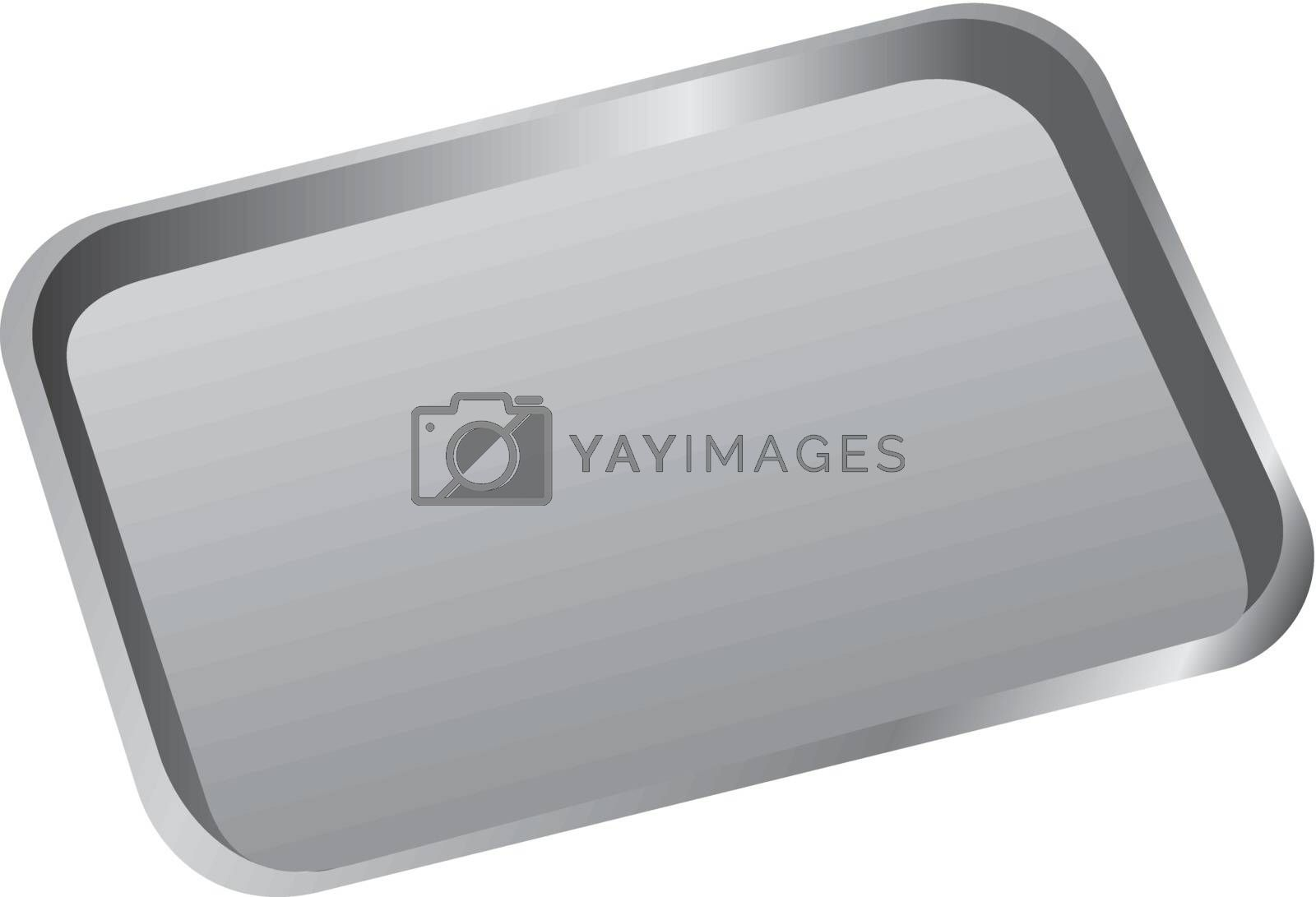 Stomatological tray to accommodate a dental tool. Vector illustration.