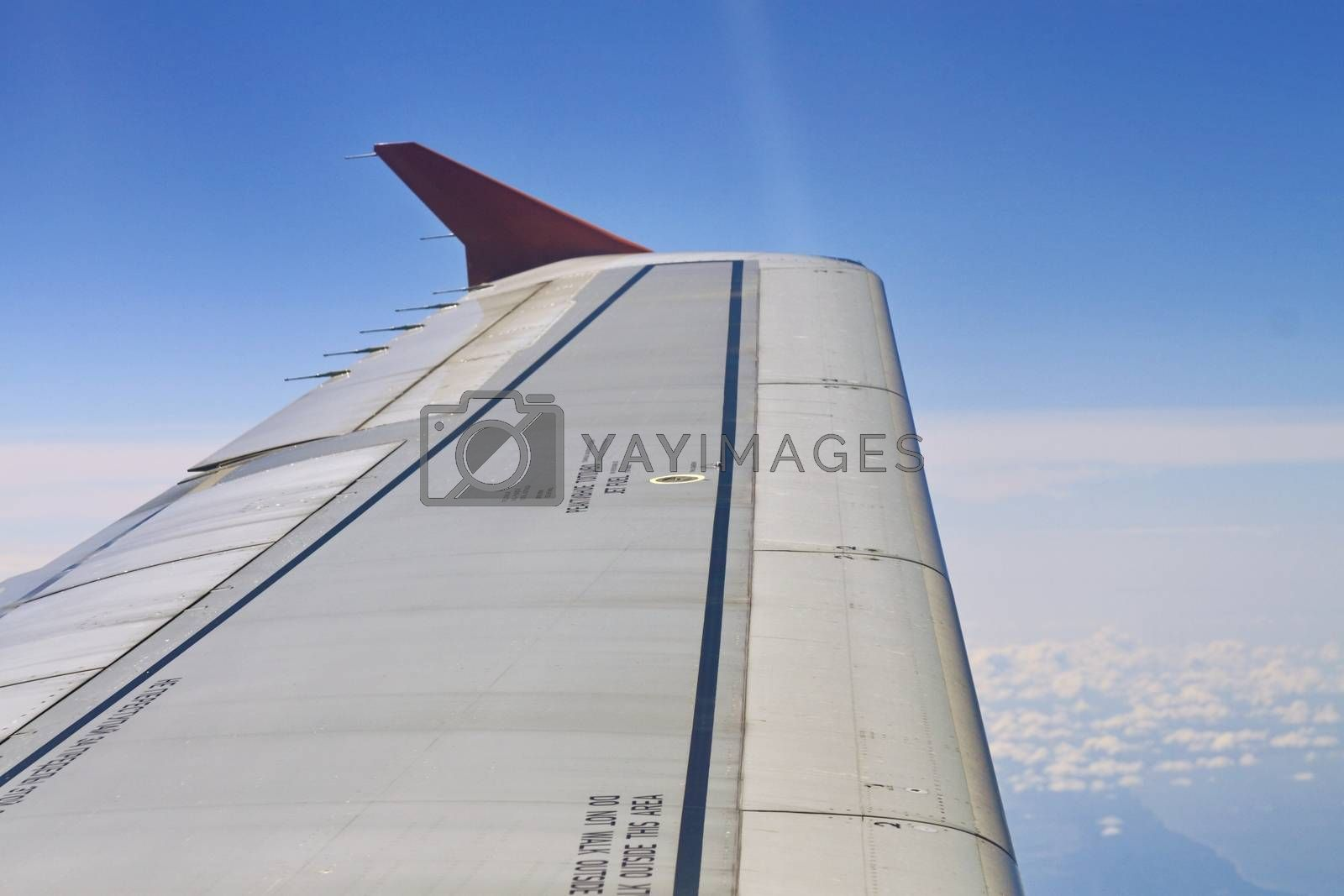 Royalty free image of wing aircraft in the air by victorych