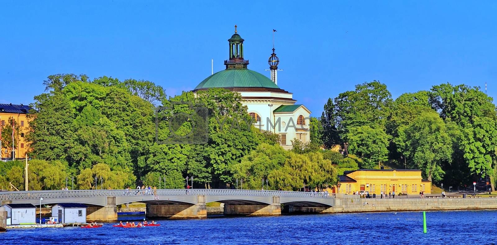 Royalty free image of walk in Stockholm by victorych