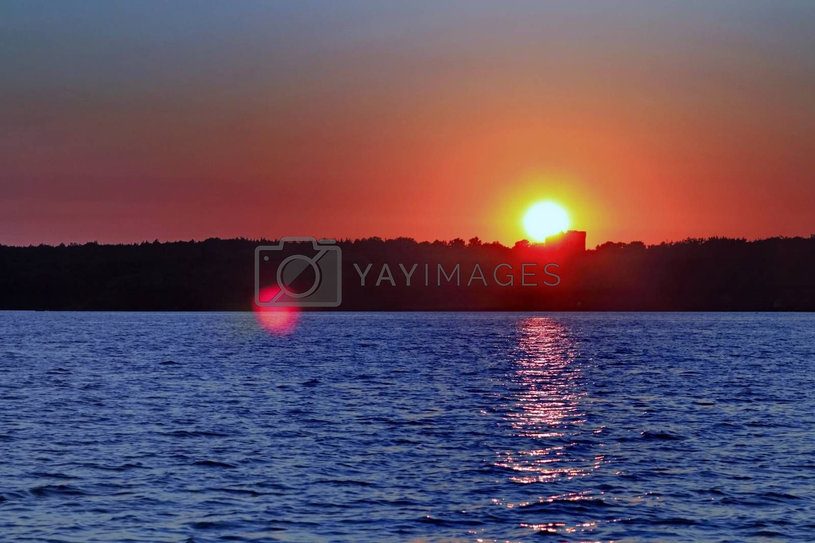 Royalty free image of evening sunset by victorych