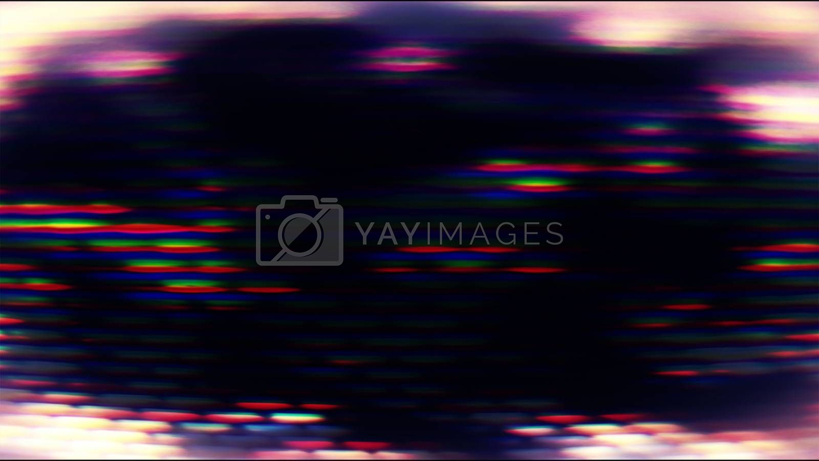Future Tech 0283 - Futuristic technology screen with abstract forms and digital pixel streaks.