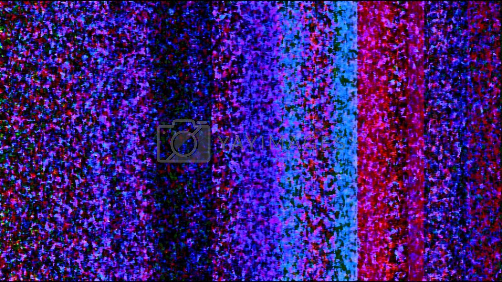 Future Tech 0287 - Futuristic technology abstract screen with colorful digital noise.