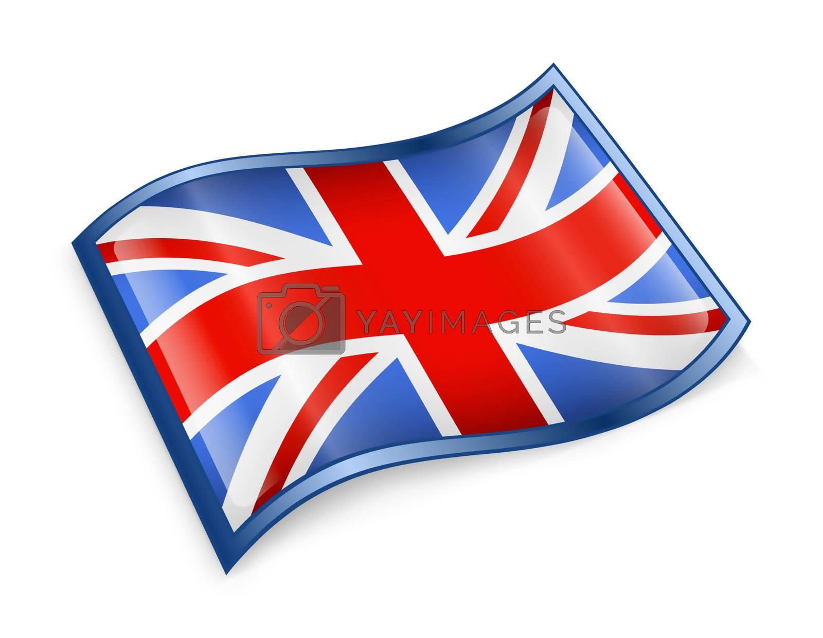 United Kingdom Flag Icon, isolated on white background