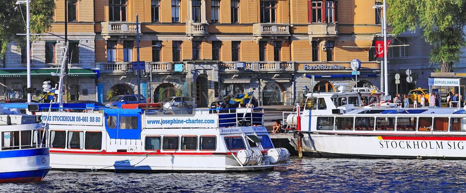 Royalty free image of city pier, Stockholm by victorych