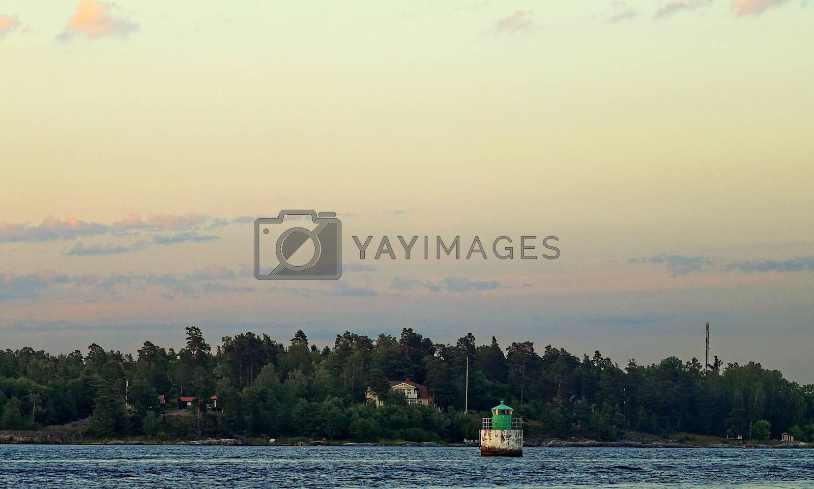 Royalty free image of buoy, fairway by victorych