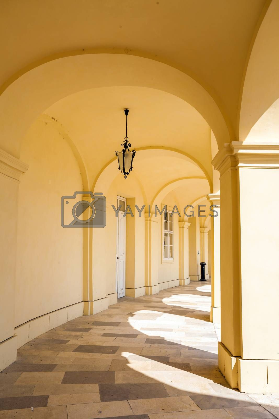 Arcade gallery of Schoenbrunn palace in Vienna by PixAchi