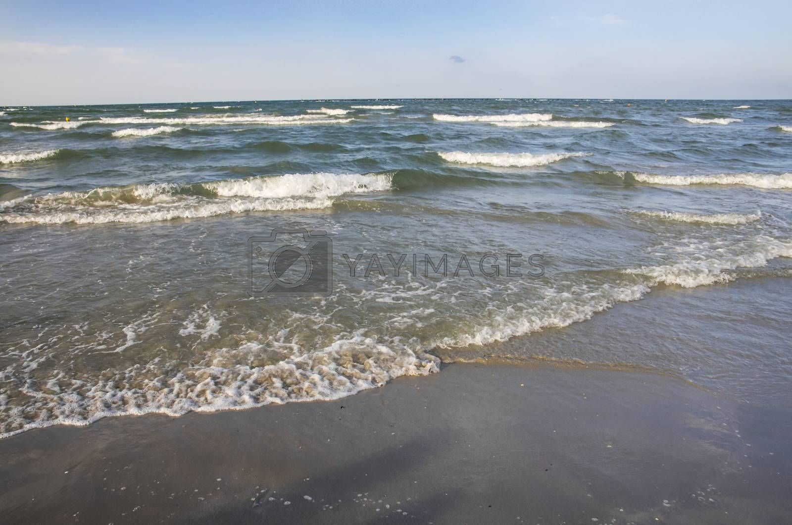 Sea waves on a sandy beach, Black Sea