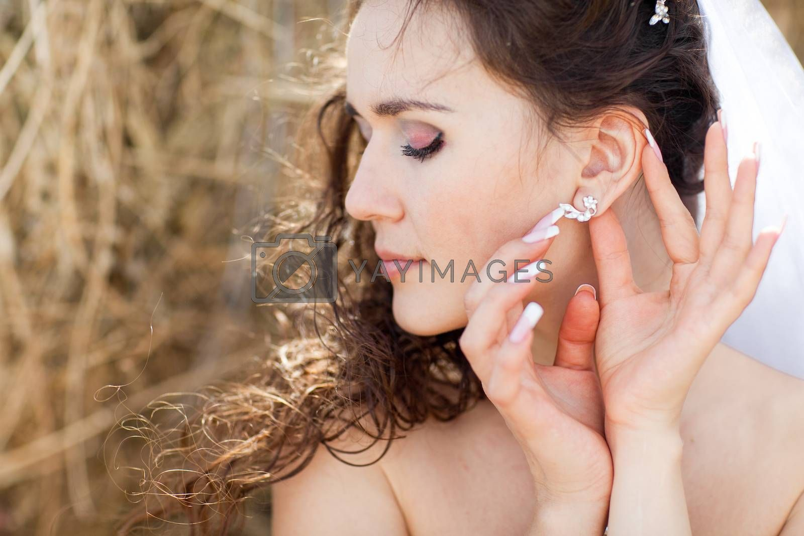 bride with ear-ring