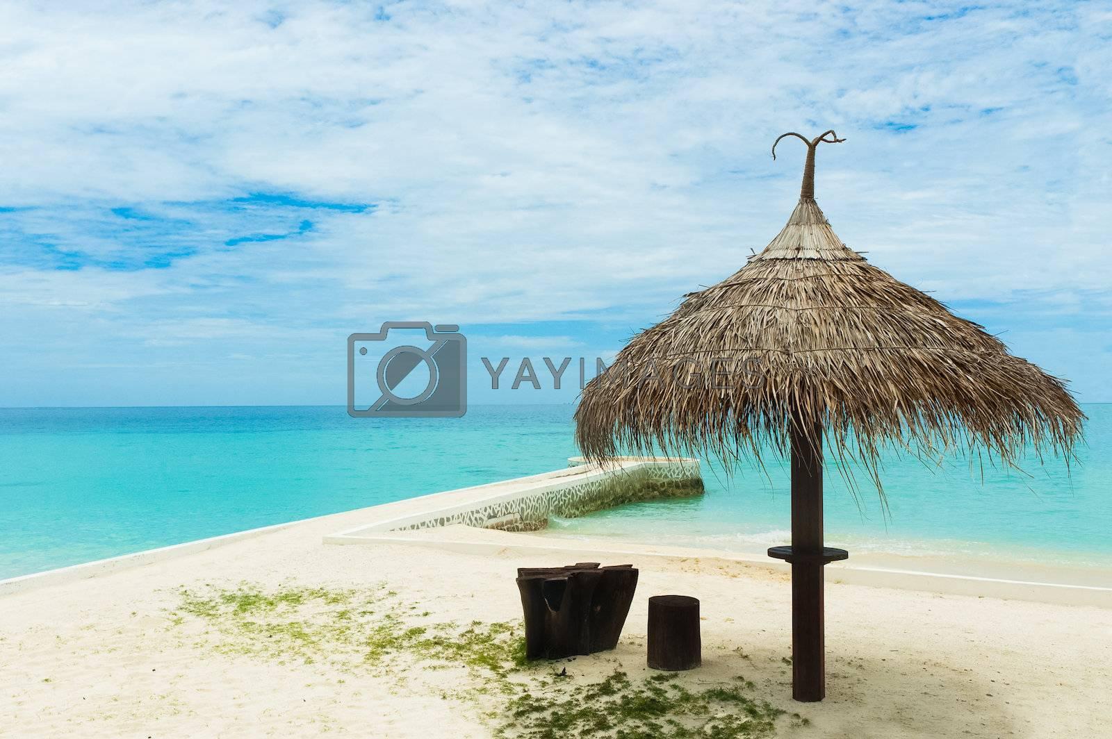 Umbrella on a tropical beach