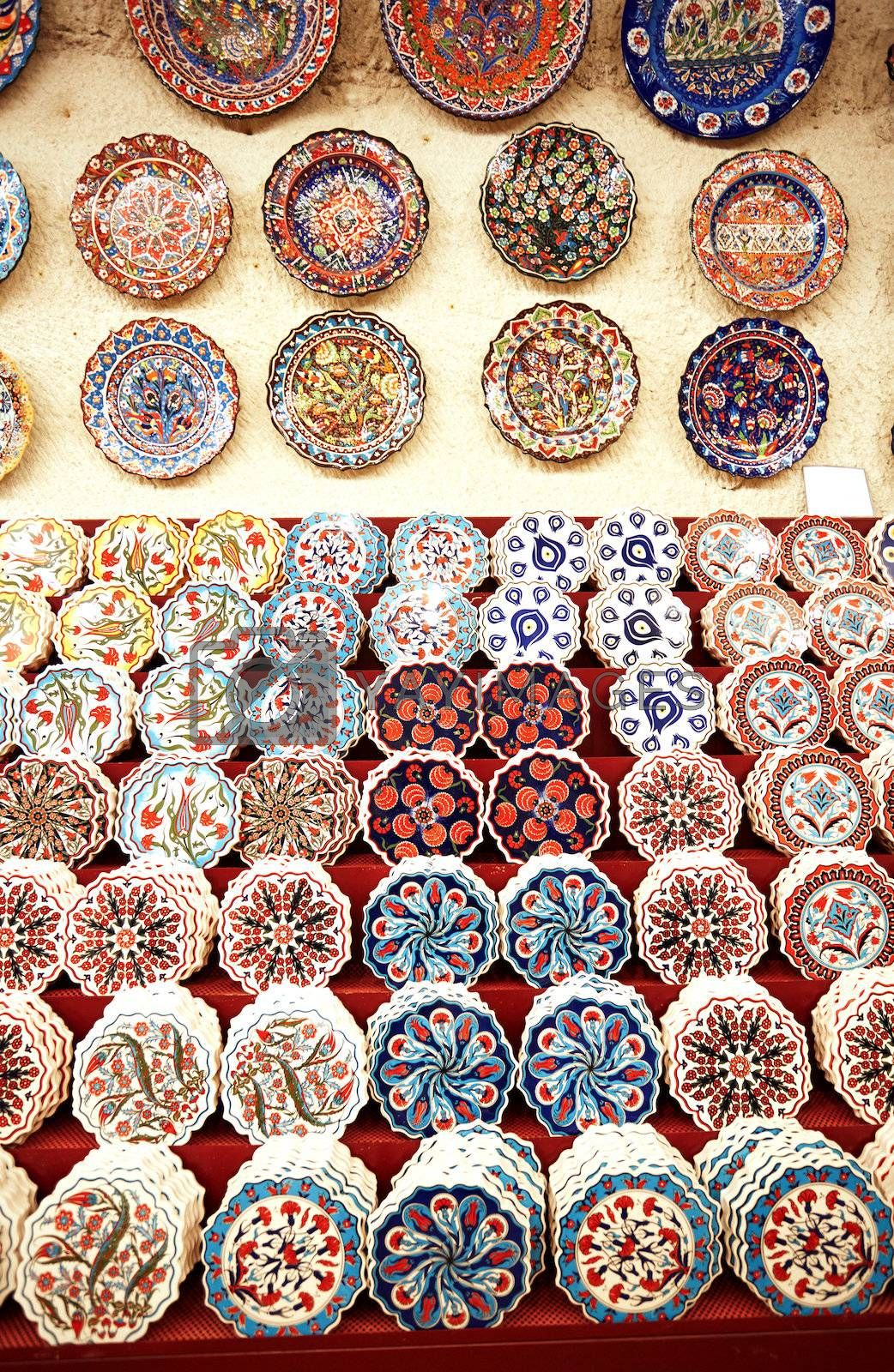 Ceramic art at pottery shop. Turkey
