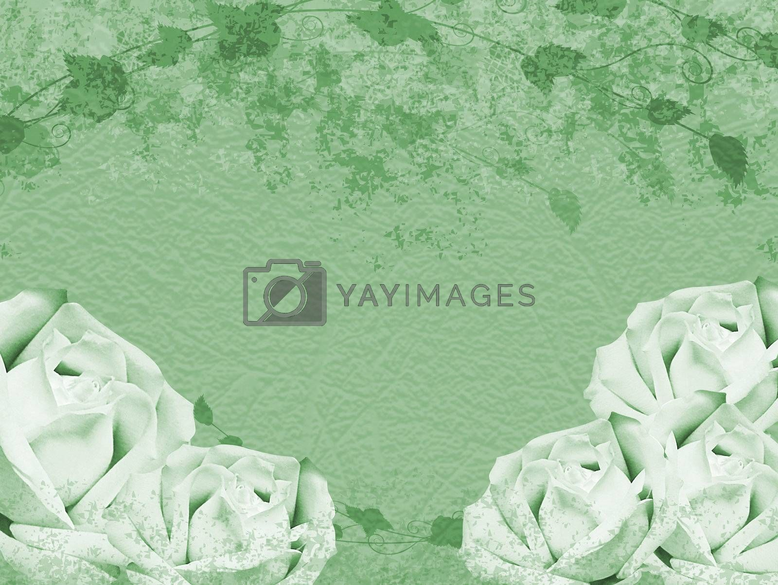 Textured roses background with space for text