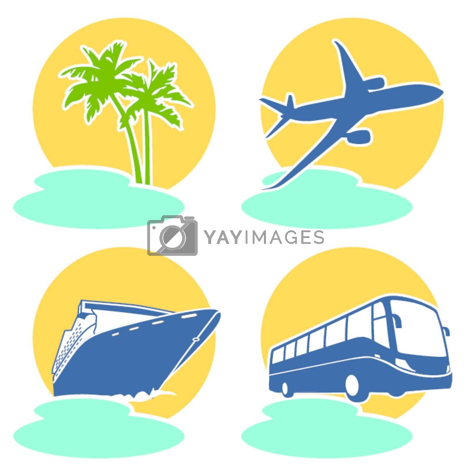 Travel and holiday icon