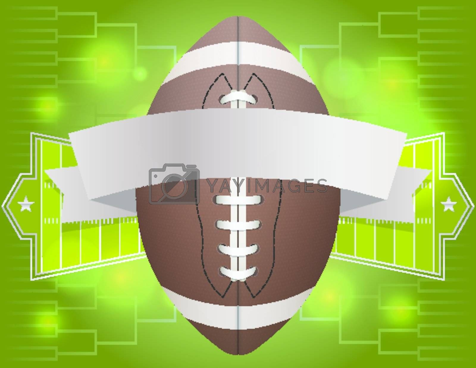 American Football Banner Illustration Royalty Free Stock Image Yayimages Royalty Free Stock Photos And Vectors