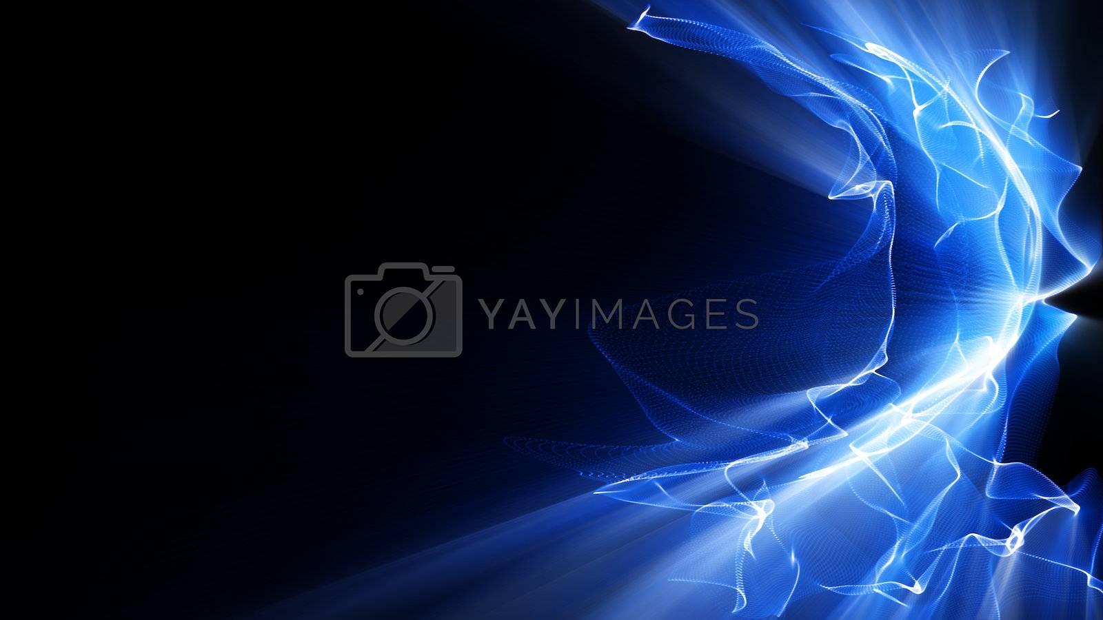 Light Effect 0392 - Waves of blue light undulate, ripple and shine.