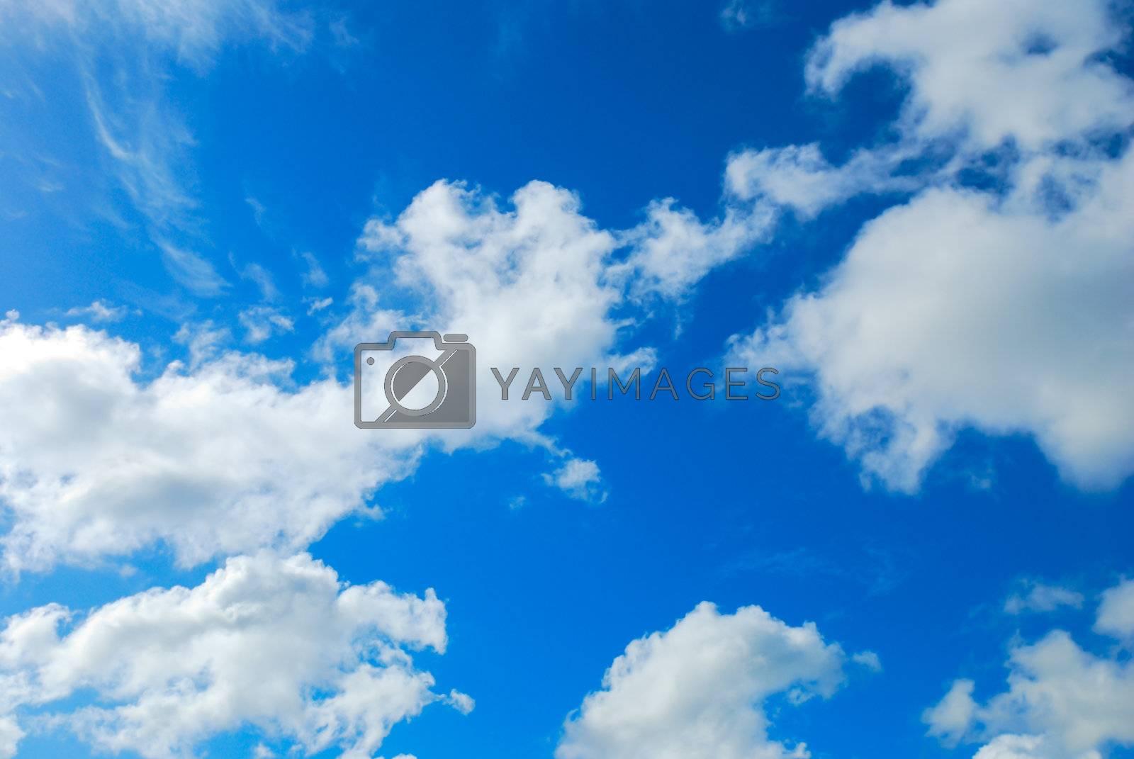 Royalty free image of Cloud in blue sky  by teen00000