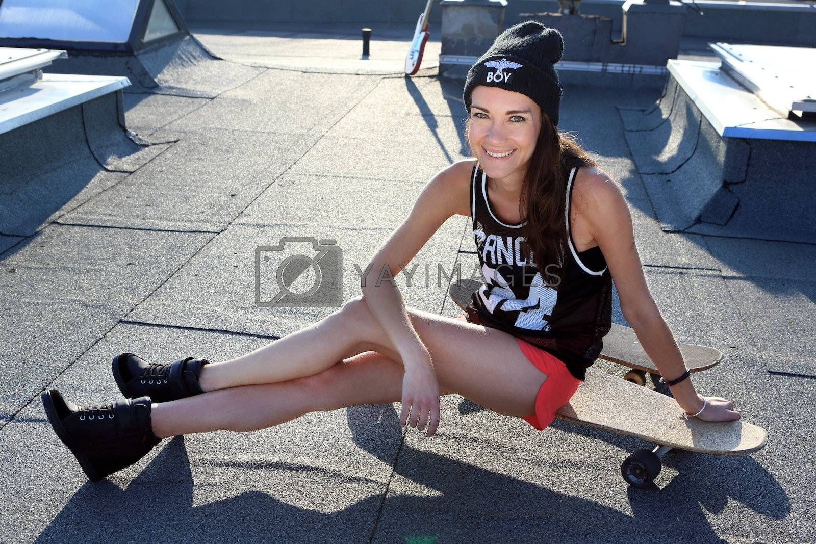 Royalty free image of Skateboarding, fashion and style by robert_przybysz