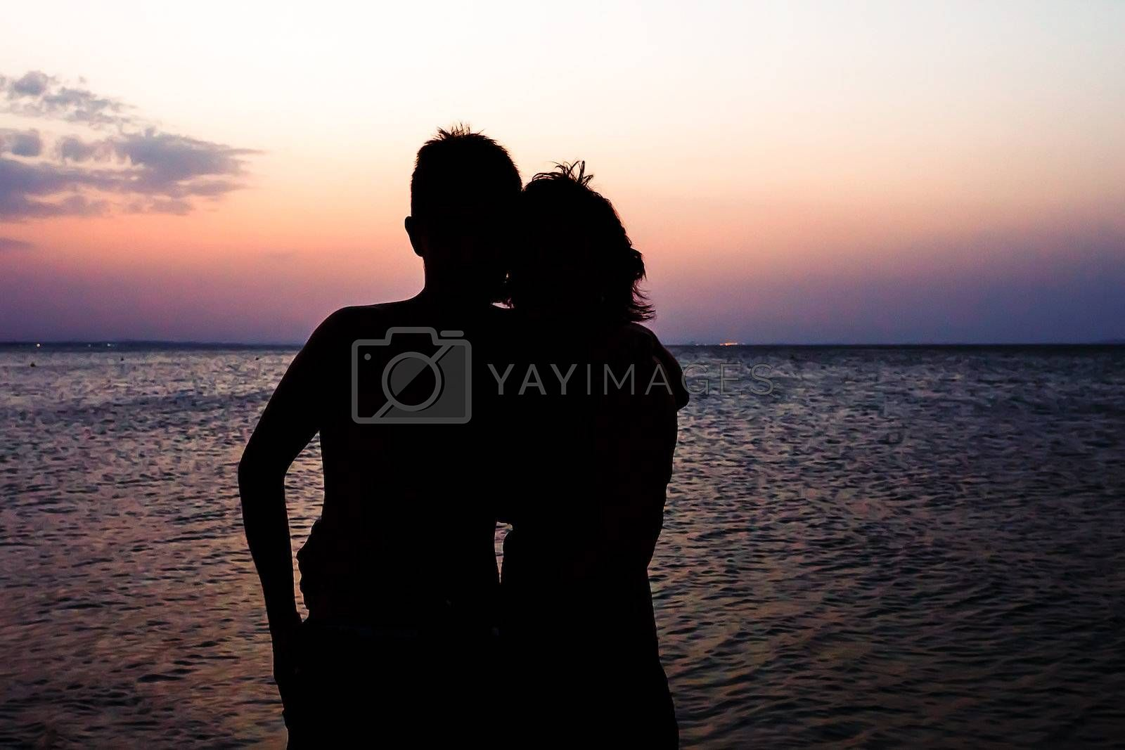 Royalty free image of Couple Man and Woman on beach by artush