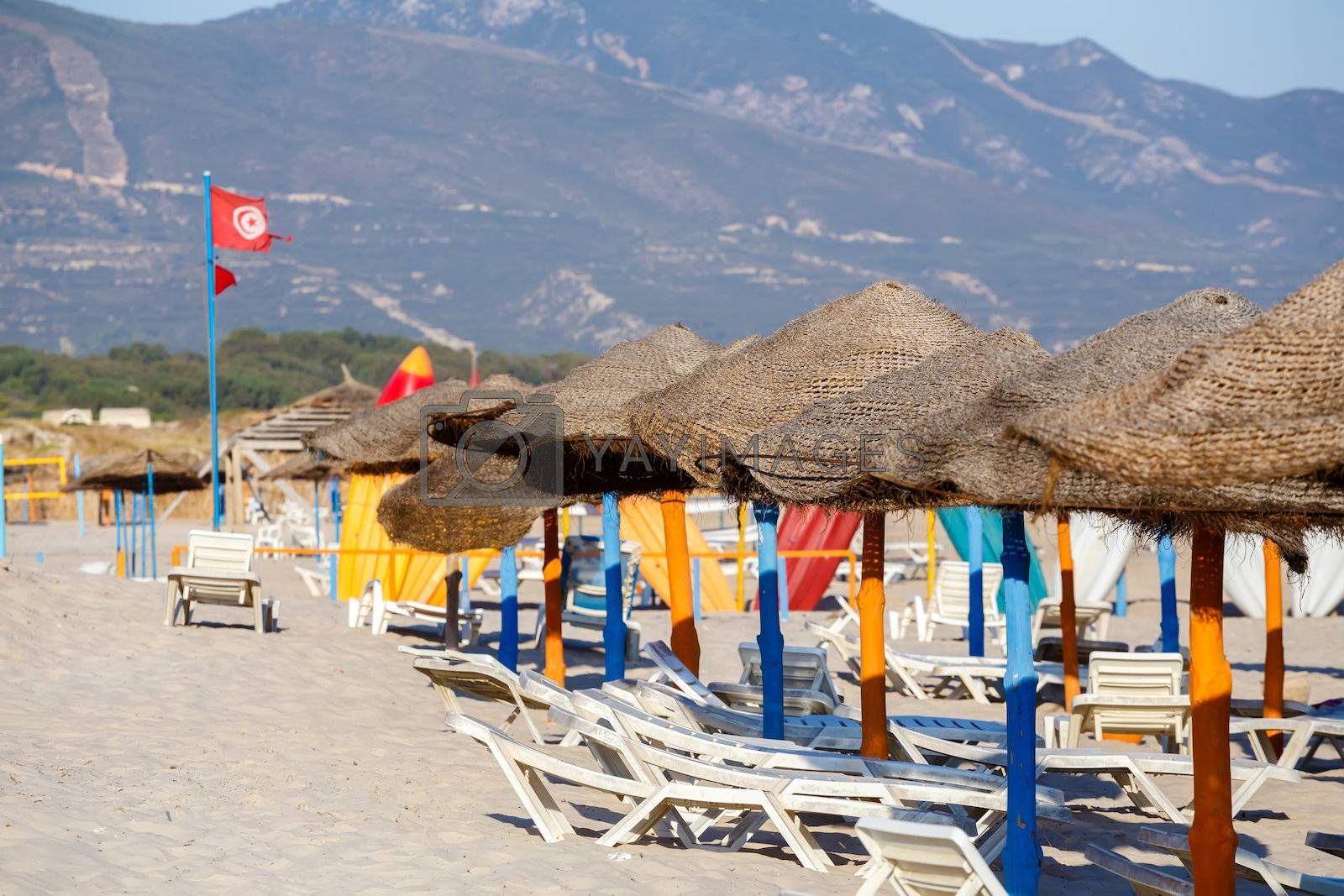Royalty free image of tunisian beach in morning without people by artush