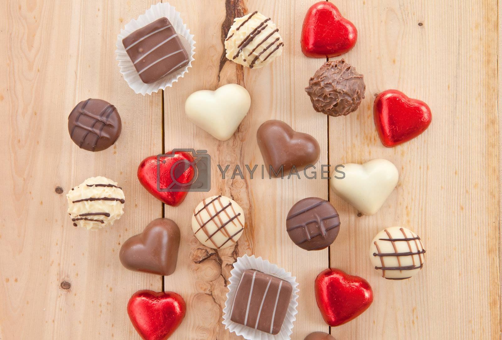 Royalty free image of Various chocolates by BarbaraNeveu