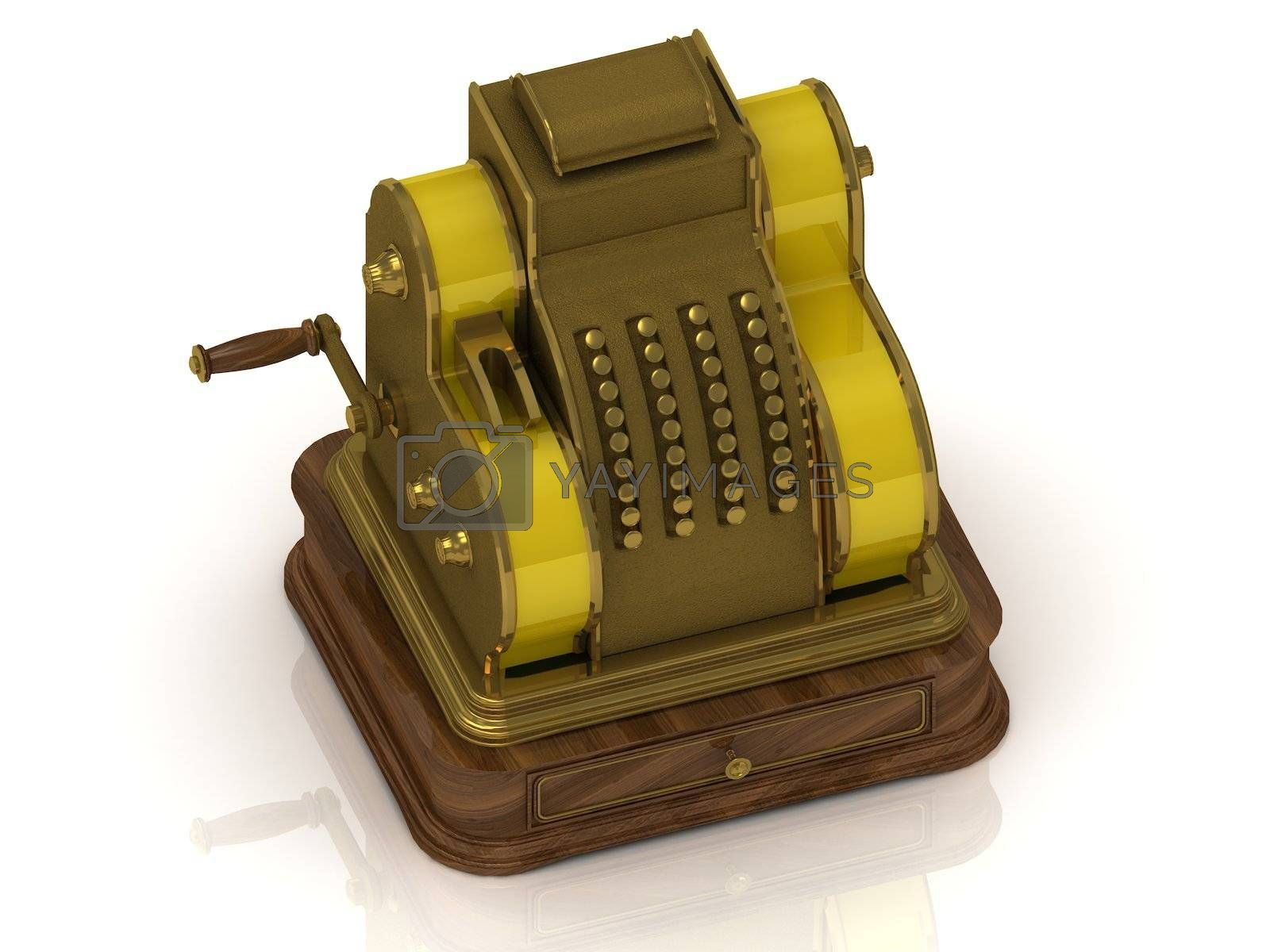 Royalty free image of Old golden cash register  by GreenMost