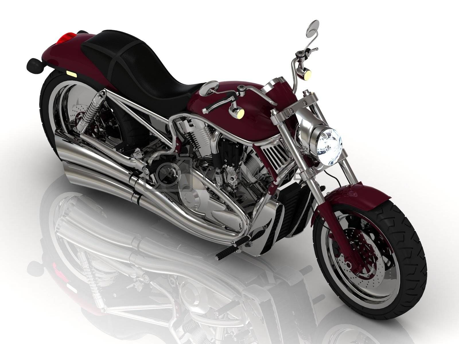 Royalty free image of Motorcycle and chrome engine by GreenMost