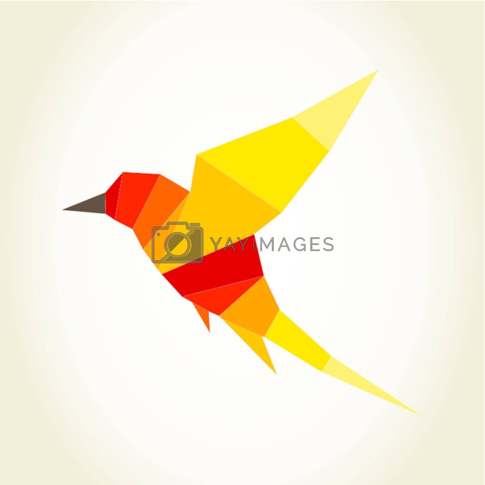 Abstraction a bird in flight. A vector illustration